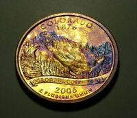 TONED 2006 S CLAD PROOF COLORADO STATE QUARTER W26895