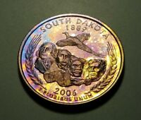 TONED 2006 S CLAD PROOF SOUTH DAKOTA STATE QUARTER W26893