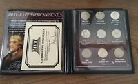 NEW AUTHENTIC FIRST COMMEMORATIVE MINT 100 YEARS OF AMERICAN NICKELS COLLECTION