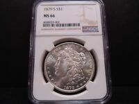 1879-S MINT STATE 66 MORGAN SILVER DOLLAR NGC CERTIFIED SUPERB GEM - BLAST WHITE