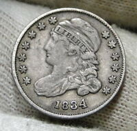 1834 CAPPED BUST DIME 10 CENTS -  COIN, SHIPS FREE  5954