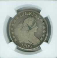 1806 DRAPED BUST O-115A POINT 6 WITH STEM G4 NGC HALF DOLLAR