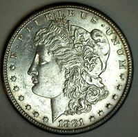 1881 S MORGAN SILVER DOLLAR UNITED STATES COIN ALMOST UNCIRCULATED $1 AU T
