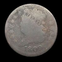 1809 CLASSIC HEAD HALF CENT ROTATED DIE  135 UNIQUE MINT ERROR COIN