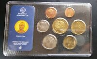 GREECE BU MINT SET OF 7 COINS 1993 1 DRX   100 DRACHMES  HELLENIC RPBLC