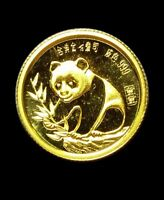 1987 GOLD PANDA 1/20 OZ .999 SINO JAPANESE FRIENDSHIP COMMEMORATIVE LOW MINTAGE