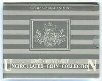 1987 MINT SET OF 7 UNCIRCULATED COINS IN RAM PACK