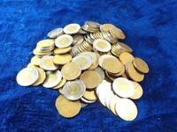 LOT OF CANADIAN CURRENCY COINS 1 & 2 DOLLARS 10 CENTS