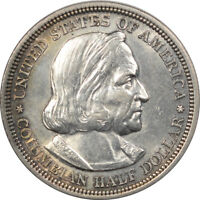 1893 COLUMBIAN SILVER COMMEMORATIVE HALF DOLLAR   DECENT EXAMPLE W/ MINOR ISSUE.