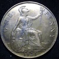 1921_UK_ONE_PENCE_GREAT_BRITAIN_ONE_PENNY_BRONZE_NICE_DETAILS