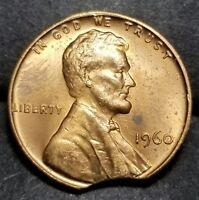 1960    LARGE CURVED CLIP LINCOLN MEMORIAL CENT MINT ERROR LOT 3227