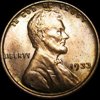 1933 LINCOLN CENT WHEAT CENT --- GEM BU CONDITION --- I253