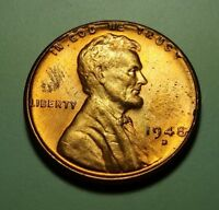 1948 D LINCOLN WHEAT CENT W27416