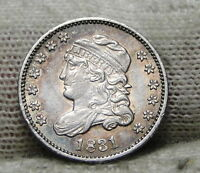 1831 CAPPED BUST HALF DIME H10C 5 CENTS -  OLD COIN, SHIPS FREE  6193