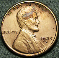1925-S LINCOLN CENT WHEAT CENT --- STUNNING DETAILS --- N978