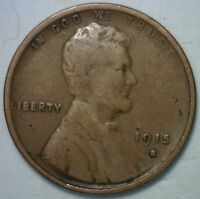 1915 S LINCOLN WHEAT CENT 1 CENT US COIN GRADE  GOOD VG R3