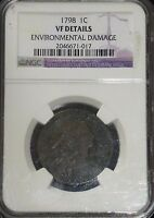 1798 US LARGE CENT NGC VF DETAILS