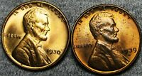 1930  1939-S LINCOLN WHEAT CENTS --- GEM BU  CONDITION LOT --- A698