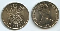 G12414   SOLOMON ISLANDS 20 CENTS 1977 KM5 UNC ELIZABETH II. SALOMONEN