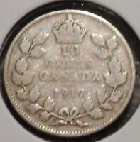 CANADA DIME   1919   KING GEORGE V   $1 UNLIMITED SHIPPING