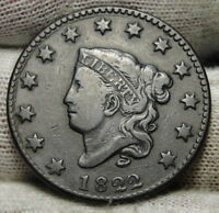 1822 PENNY CORONET LARGE CENT -   COIN, SHIPS FREE  7203
