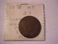 1828 CORONET LARGE CENT -- N-9 -- R4--- CIRCULATED