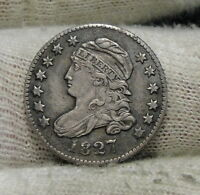 1827 CAPPED BUST DIME 10 CENTS -   COIN, SHIPS FREE  6112