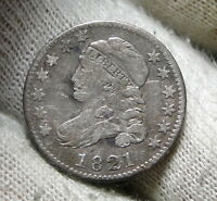 1821 CAPPED BUST DIME 10 CENTS -  COIN, SHIPS FREE  5967