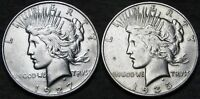 1927-D  1935-S PEACE DOLLAR SILVER US COIN ---  LOT --- I543