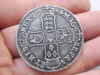 EXCELLENT 1688 KING JAMES II GREAT BRITAIN SILVER CROWN COIN