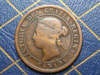 1884 CANADIAN LARGE PENNY QUEEN VICTORIA LOT 5