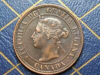 1900 CANADIAN LARGE PENNY QUEEN VICTORIA LOT 19