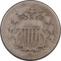 1875 SHIELD NICKEL - DBL DIE & REP DATE - FS-103 FLETCHER 3 - CIRCULATED