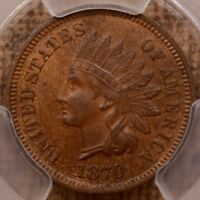 1870 INDIAN CENT PCGS MS62 BN A TOTALLY SWEET PQ COIN    DAV