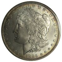 1885 O MORGAN DOLLAR $1 MS 64 ANACS SMALL OLD HOLDER EARLY GEN. CRACK IN HOLDER