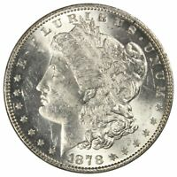 1878 P 7TF MORGAN SILVER DOLLAR REVERSE OF 1879 MS BU UNC LUSTROUS COIN 3RD REV