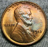 1913 LINCOLN CENT WHEAT CENT --- GEM BU CONDITION --- A428