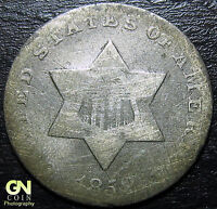 1852 3 CENT SILVER PIECE  --  MAKE US AN OFFER  Y5459