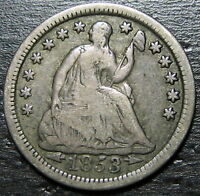 1853 P SEATED HALF DIME  --  MAKE US AN OFFER  R5306
