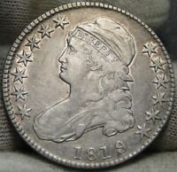 1819/8 CAPPED BUST HALF DOLLAR 50 CENTS -  COIN, SHIPS FREE 6554