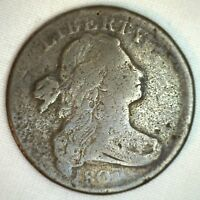 1803 DRAPED BUST COPPER LARGE CENT EARLY PENNY TYPE COIN S259 FINE K1