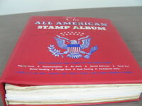 US AIRMAILS EXCELLENT STAMP COLLECTION MOUNTED IN A BATTERED MINKUS ALBUM