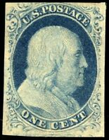 US 8A 1 CENT FRANKLIN  IMPERF MINT STAMP NH??