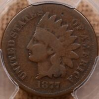1877 KEY DATE INDIAN CENT PCGS G4 NICE QUALITY FOR GRADE   D