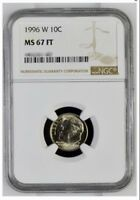 1996 W 10C ROOSEVELT DIME NGC67 FT FULL TORCH CERTIFIED GRAD