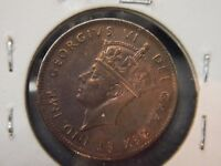 1943  AU  NEWFOUNDLAND  ONE CENT.