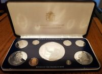 1979 PANAMA 9 COIN PROOF SET FRANKLIN MINT CERTIFICATES OF A