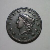1830 LARGE CENT XF