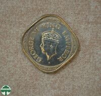 1944 BOMBAY INDIA   2 ANNA    BROCKAGE ERROR COIN   UNCIRCULATED DETAILS