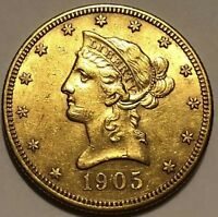1905 S LIBERTY $10 GOLD EAGLE SAN FRANCISCO MINT ISSUE GOLD